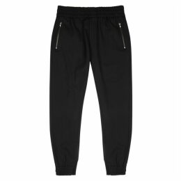 Wooyoungmi Black Stretch-wool Sweatpants