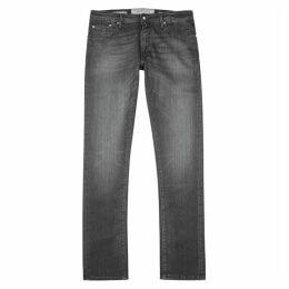Jacob Cohën Grey Slim-leg Jeans