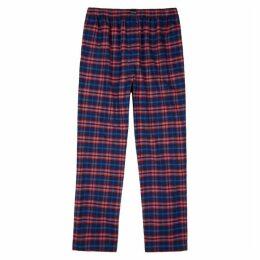 Balenciaga Checked Brushed Cotton Sweatpants
