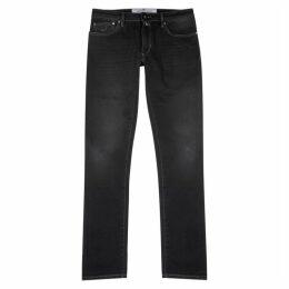Jacob Cohën Charcoal Slim-leg Jeans