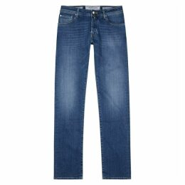 Jacob Cohën Blue Straight-leg Jeans