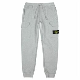Stone Island Grey Cotton Sweatpants