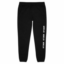 Moncler Black Cotton-jersey Sweatpants