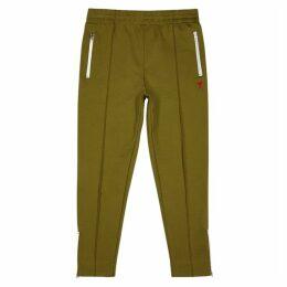 AMI Olive Cotton-blend Sweatpants