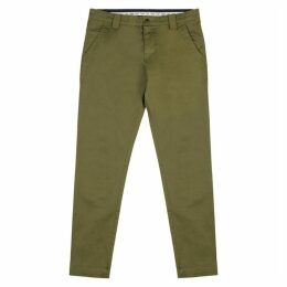 Tommy Jeans Olive Stretch-cotton Chinos