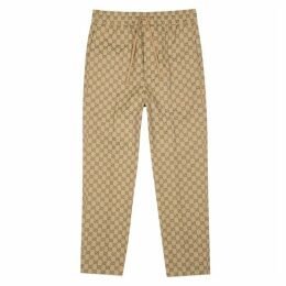 Gucci GG Monogrammed Cotton-blend Sweatpants
