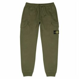 Stone Island Army Green Cotton Sweatpants