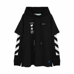 Off-White Faceless Layered Cotton Sweatshirt