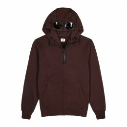 C.P. Company Burgundy Hooded Cotton Sweatshirt