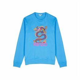 Kenzo Blue Dragon-embroidered Cotton Sweatshirt