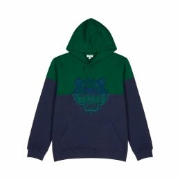 Kenzo Colour-block Embroidered Cotton Sweatshirt