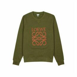 Loewe Green Cotton-jersey Sweatshirt
