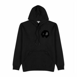 McQ Alexander McQueen Pixelated Monster Hooded Cotton Sweatshirt