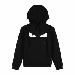 Fendi Black Appliquéd Cotton Sweatshirt