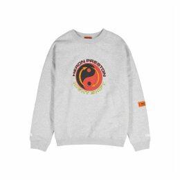 Heron Preston Tao Logo Grey Printed Cotton Sweatshirt