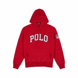 Polo Ralph Lauren Red Logo-appliquéd Fleece Sweatshirt