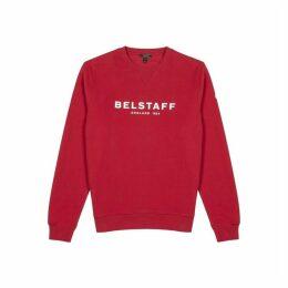 Belstaff Red Printed Logo Cotton Sweatshirt