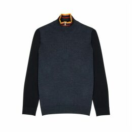 Paul Smith Striped High-neck Wool Sweatshirt