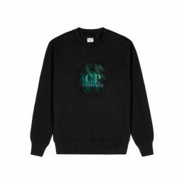 C.P. Company Black Printed Jersey Sweatshirt