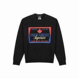 Dsquared2 Black Printed Cotton Sweatshirt