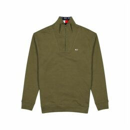 Tommy Jeans Olive Cotton Sweatshirt
