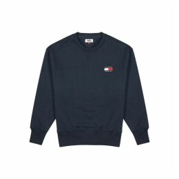 Tommy Jeans Navy Cotton Sweatshirt