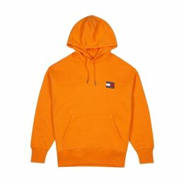 Tommy Jeans Orange Hooded Cotton Sweatshirt