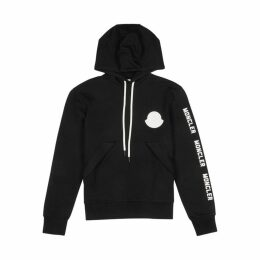 Moncler Black Hooded Cotton Sweatshirt