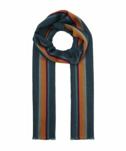 Artist Stripe Wool-Silk Scarf