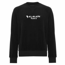 Balmain Velvet Crew Neck Sweater