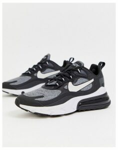 Nike Air Max 270 React trainers in black and grey