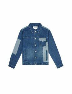 Mens Fōr Eastbury Stonewash Denim Jacket*, Blue