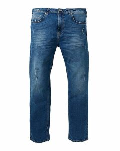 Loose Midwash Premium Wash Jeans