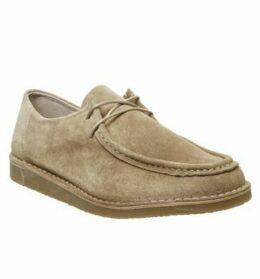 Office Cain Apron Toe Shoe BEIGE SUEDE