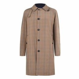 Lanvin Reversible Checked Coat