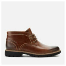Clarks Men's Batcombe Lo Leather Chukka Boots - Dark Tan