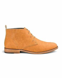 Suede Look Chukka Boots Standard Fit