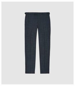 Reiss Blunt - Wool Blend Slim Fit Trousers in Indigo, Mens, Size 38