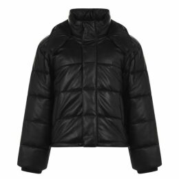 McQ Alexander McQueen Leather Padded Jacket