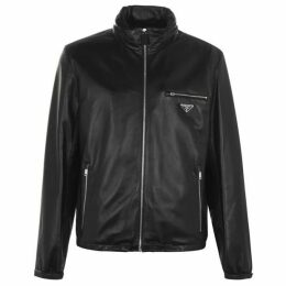Prada Badge Leather Jacket