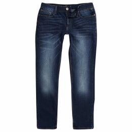 Mens River Island Big and Tall dark Blue Sid skinny jeans