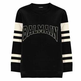 Balmain Stripe Arm Sweatshirt