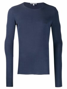 Giorgio Armani Pre-Owned 1990's elongated sleeves slim top - Blue