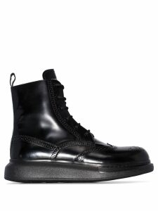 Alexander McQueen chunky sole Derby boots - Black
