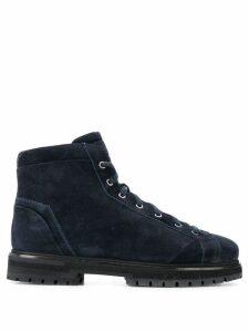 Santoni square toe boots - Blue