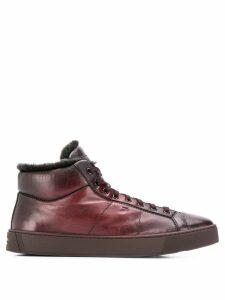 Santoni lace up boots - Purple