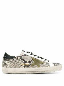 Golden Goose Superstar snake-print sneakers - Neutrals