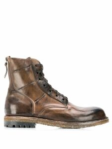 Silvano Sassetti ankle lace-up boots - Brown