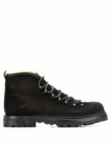 Officine Creative Hiking lace-up boots - Black
