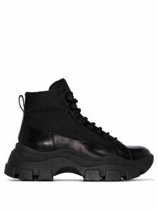 Prada chunky hiking boots - Black